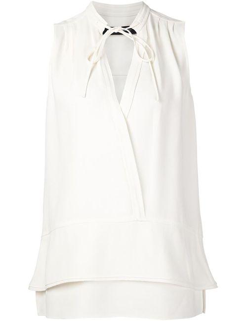 Proenza Schouler | Женское Белый Sleeveless Wrap Around Blouse