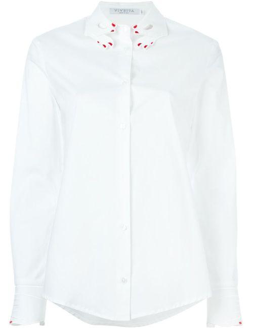 Vivetta | Женская Белая Классическая Рубашка