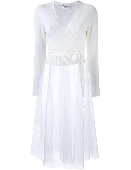 Muveil | Женское Белое Платье-Кардиган