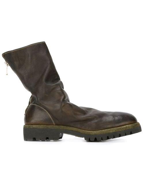 GUIDI | Мужские Зелёные Ботинки На Молнии