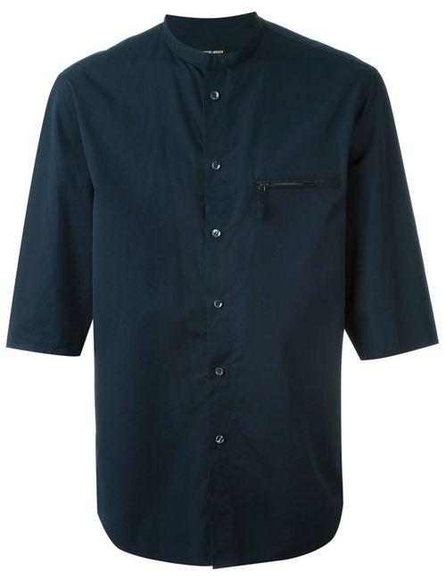 Giorgio Armani | Мужское Синий Three-Quarter Sleeve Shirt