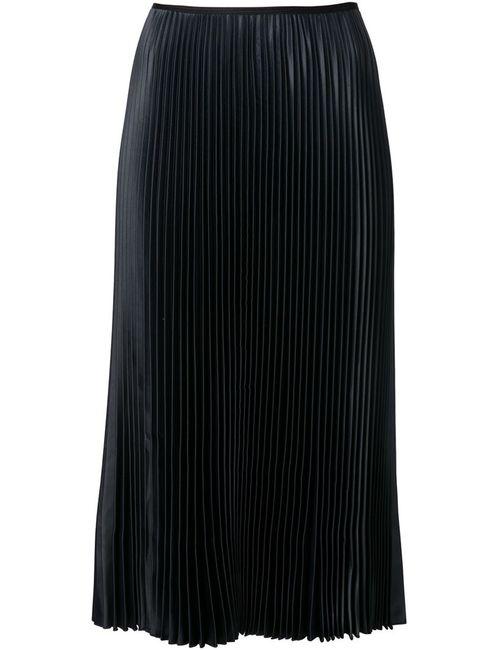 Cedric Charlier | Женская Чёрная Плиссированная Юбка-Миди