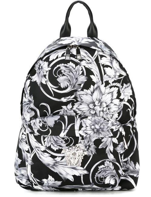 Versace | Мужской Чёрный Рюкзак С Принтом Барокко