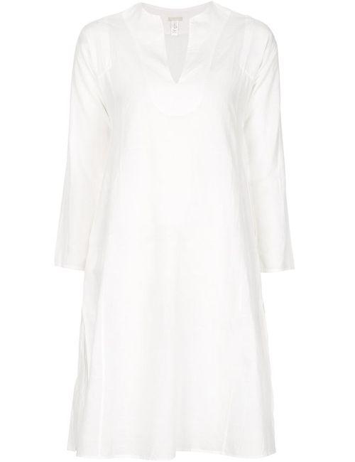 Dosa | Женское Белое Платье-Туника С Длинными Рукавами