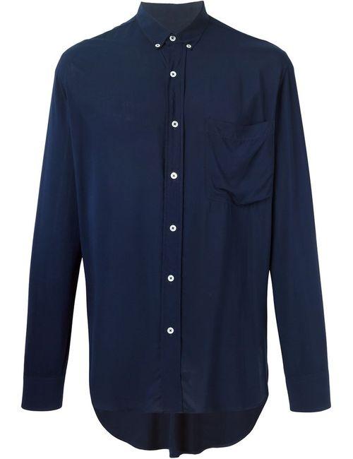 Ami Alexandre Mattiussi | Мужская Синяя Рубашка С Нагрудным Карманом