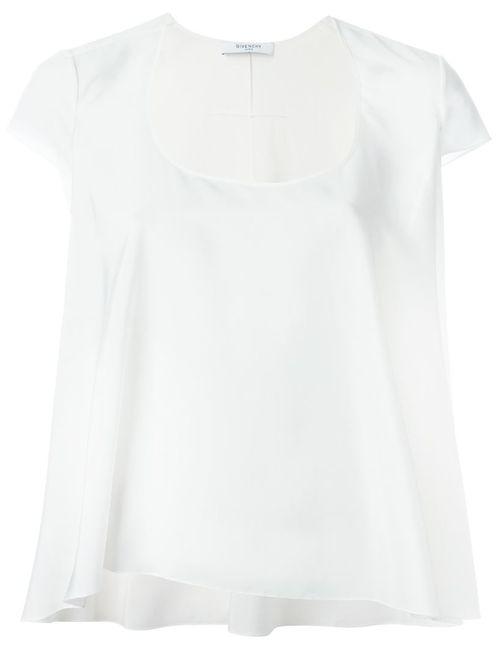 Givenchy | Женская Белая Блузка Свободного Кроя