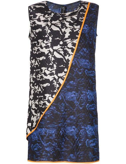 Zero + Maria Cornejo | Женское Черный Мини-Платье С Комбинированным Принтом