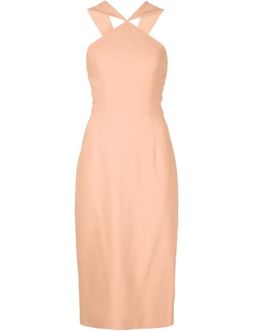 CHRISTIAN SIRIANO | Женское Белое Фактурное Облегающее Платье
