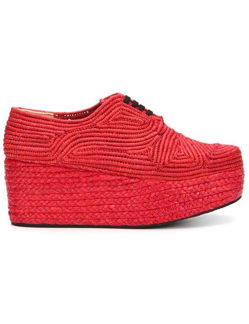 Robert Clergerie   Женские Красные Туфли На Платформе