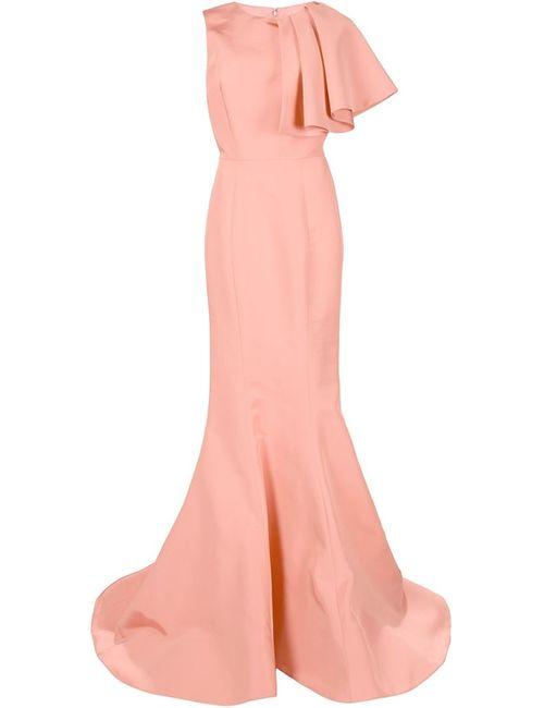 CHRISTIAN SIRIANO | Женское Жёлтое Вечернее Платье С Подолом Годе