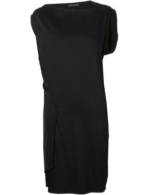 ALEXANDRE PLOKHOV | Женское Чёрное Платье С Панельным Дизайном