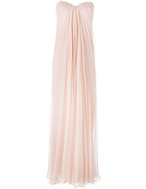 Alexander McQueen | Женское Розовое Драпированное Платье-Бюстье