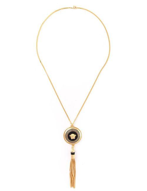 Versace | Женское Серебристый Medusa Tassel Necklace