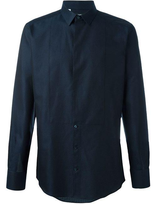 Dolce & Gabbana | Мужская Синяя Рубашка С Нагрудником