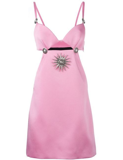 Fausto Puglisi | Женское Розовое Платье С Вырезными Деталями