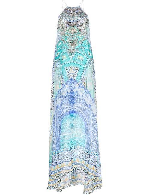 Camilla | Женское Синий Halter-Neck Maxi Dress