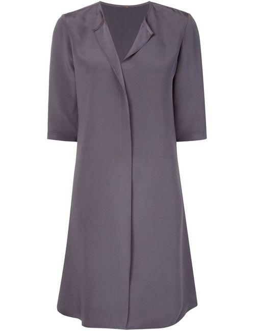 PETER COHEN | Женское Серое Шелковое Платье-Рубашка