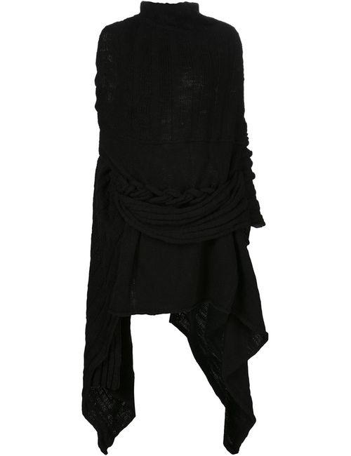 Yohji Yamamoto | Женский Чёрный Асимметричный Свитер
