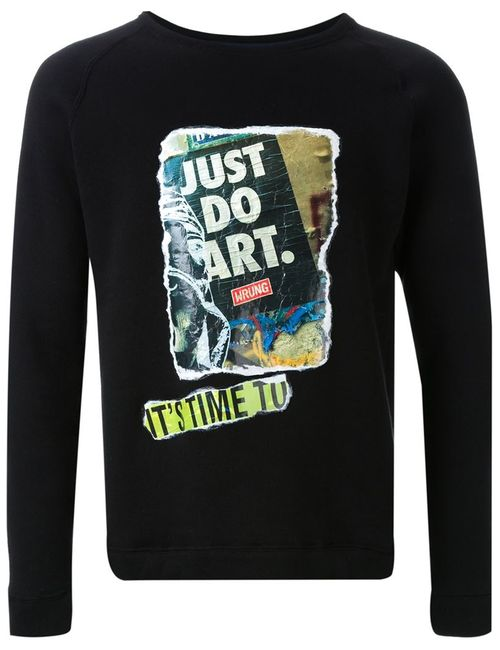 FADTHREE | Мужское Чёрный Graffiti Appliqué Sweatshirt