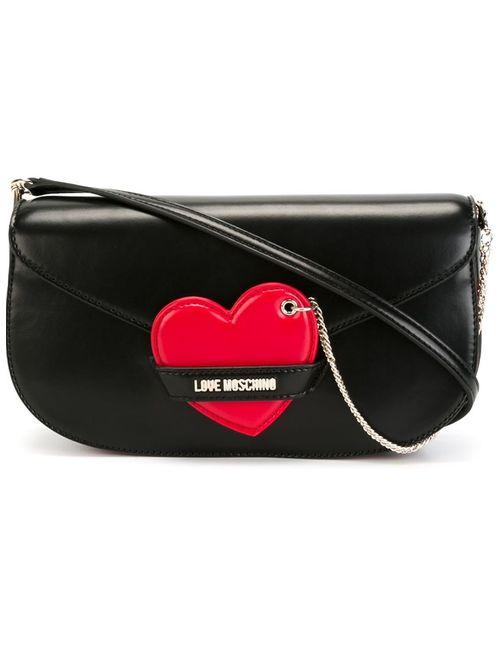 Love Moschino | Женская Чёрная Сумка Через Плечо С Аппликацией Сердца