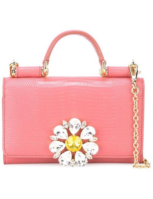 Dolce & Gabbana   Женская Розовая Сумочка Через Плечо Von
