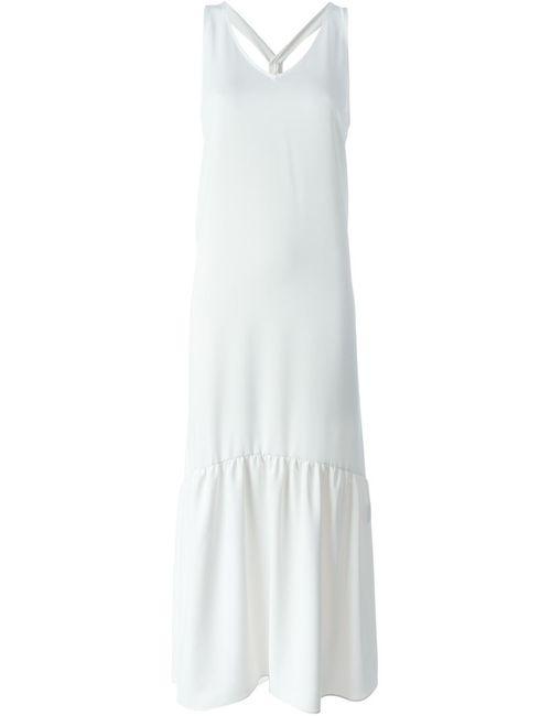 P.A.R.O.S.H.   Женское Белое Платье Без Рукавов