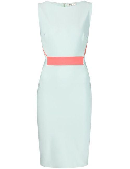 Mugler | Женское Синее Приталенное Платье