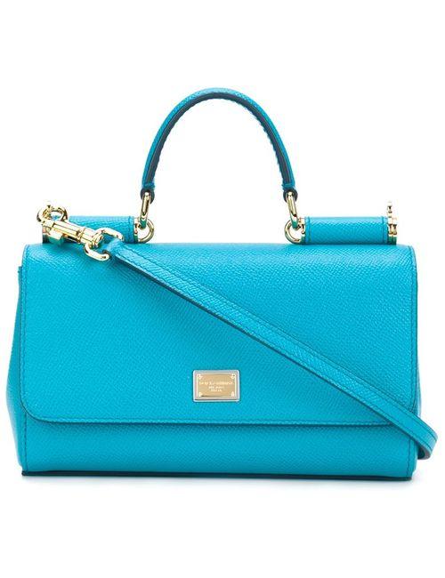 Dolce & Gabbana   Женская Синяя Сумка На Плечо Miss Sicily