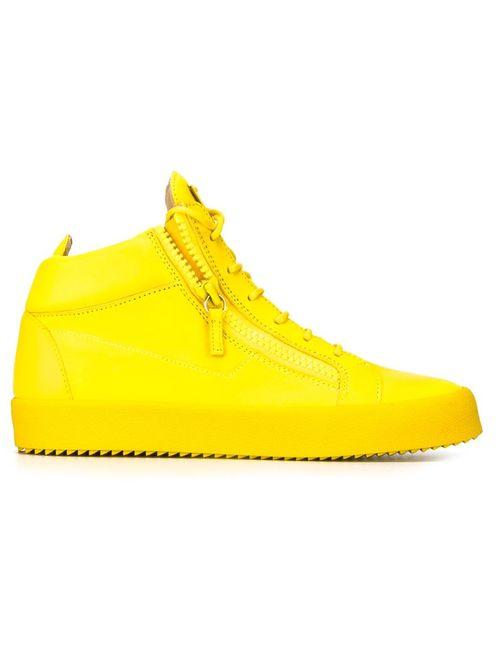 Giuseppe Zanotti Design | Мужское Желтый Zip Detail Hi-Top Sneakers