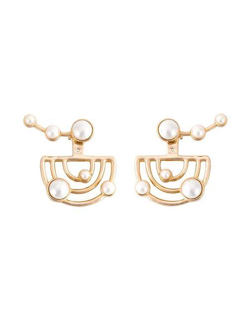 Eshvi | Женское Серебристый Astro Earrings