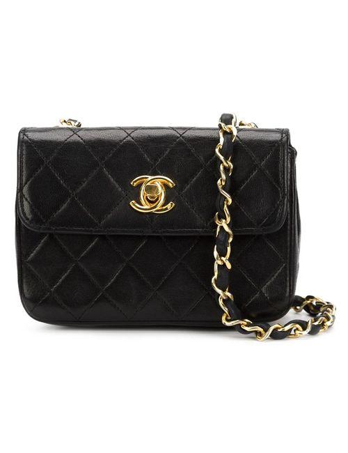 Chanel Vintage | Женская Черный Сумка Мини Через Плечо С Логотипом