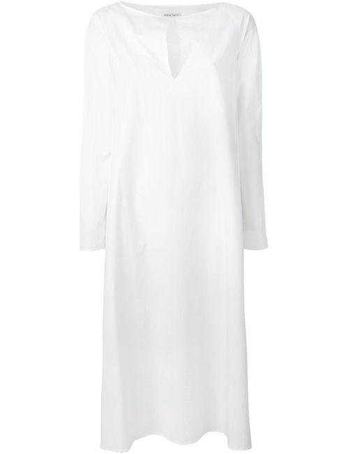 Tomas Maier | Женское Белое Платье Свободного Кроя
