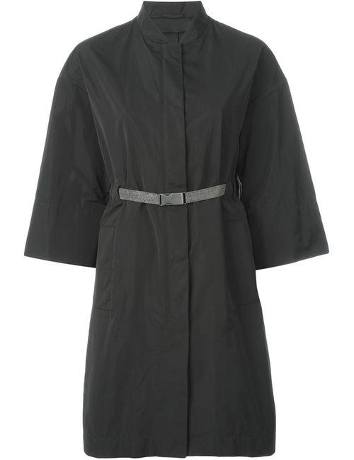 Brunello Cucinelli | Женское Серое Пальто С Поясом