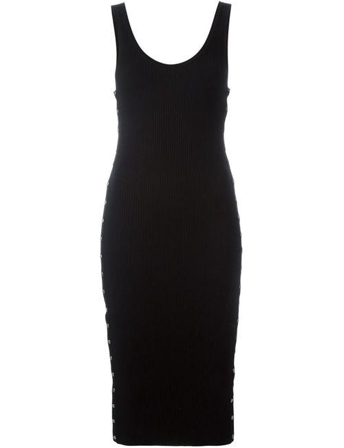 Alexander Wang | Женское Чёрное Декорированное Платье