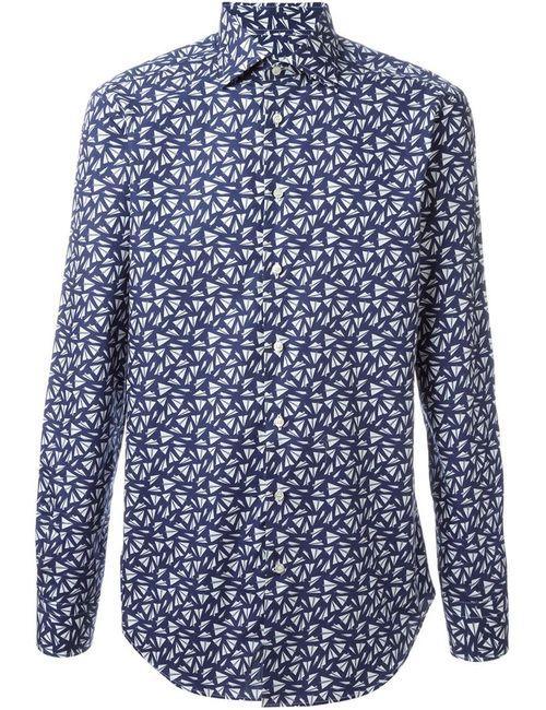 Etro | Мужская Синяя Рубашка С Принтом