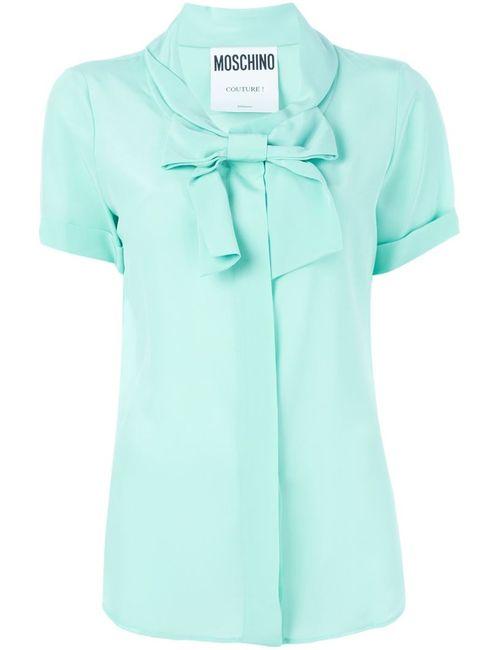Moschino | Женская Зелёная Блузка С Бантом