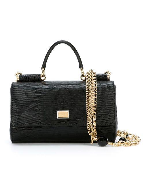 Dolce & Gabbana | Женская Чёрная Маленькая Сумка На Плечо Miss Sicily