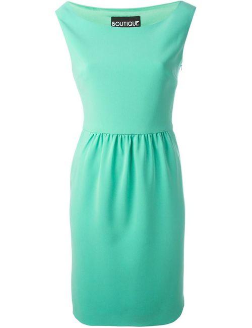 BOUTIQUE MOSCHINO | Женское Зелёное Платье С Вырезом-Лодочкой
