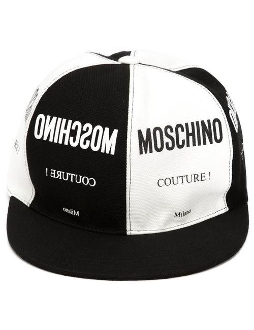 Moschino | Женская Чёрная Кепка С Принтом Логотипа
