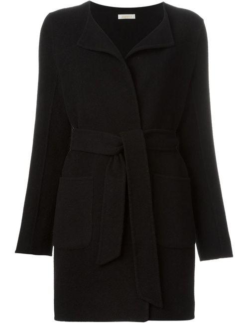 P.A.R.O.S.H. | Женское Чёрное Пальто С Поясом