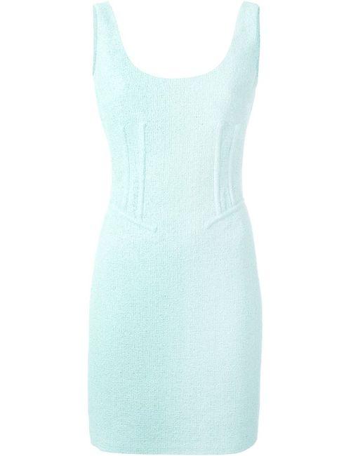 Moschino | Женское Зелёное Платье С Вырезом-Ковш