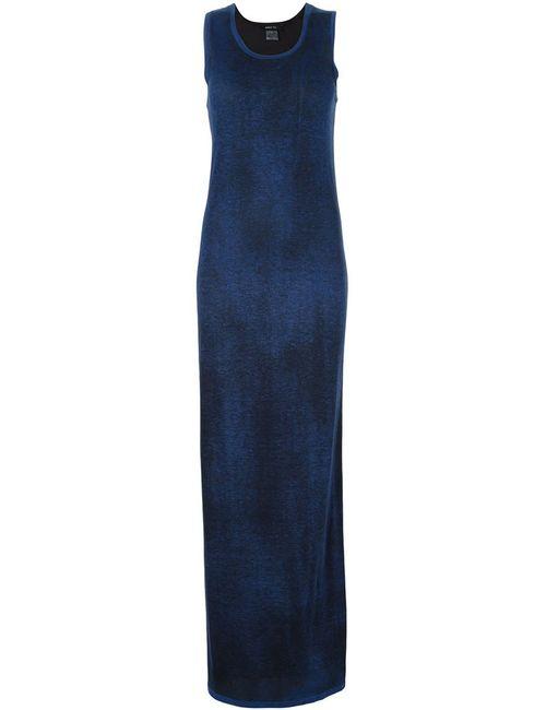 Avant Toi | Женское Синее Длинное Платье Без Рукавов
