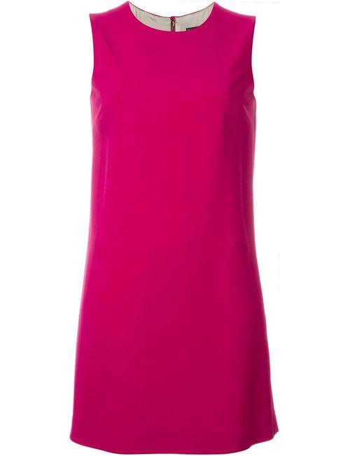 Dolce & Gabbana | Женское Розовое Платье-Шифт Без Рукавов