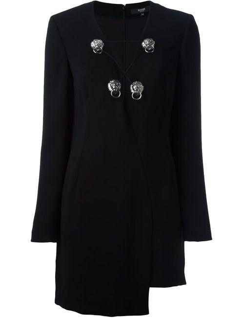 Versus | Женское Чёрное Платье Асимметричного Кроя