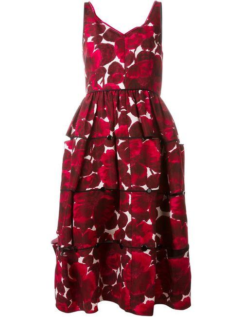 Marc Jacobs | Женское Розовое Платье С Цветочным Принтом