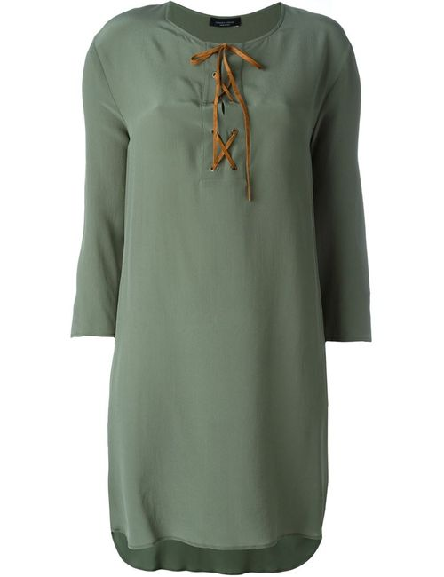 Roberto Collina | Женское Зелёный Tied Neckline Loose Dress