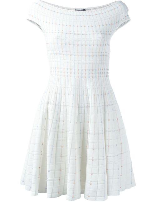 Alexander McQueen | Женское Белое Платье С Приспущенными Плечами