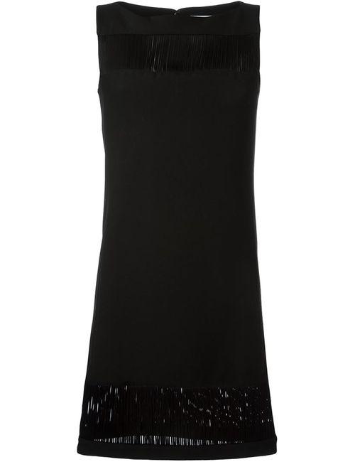 Versace Collection | Женское Чёрное Платье Без Рукавов