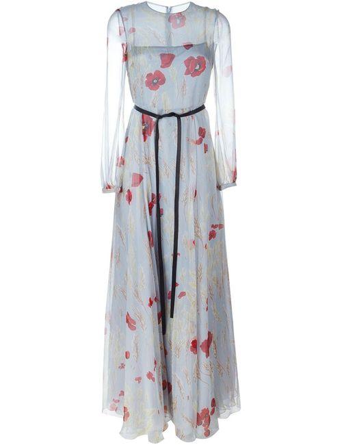 Valentino | Женское Синий Evening Dress