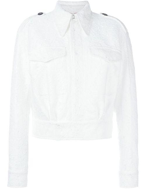 No21 | Женская Белая Кружевная Куртка-Бомбер